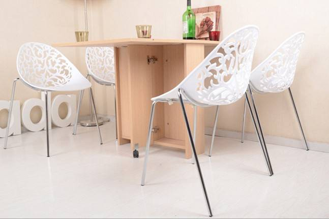Contemporary and Colourful Dining Cheap Plastic Chair