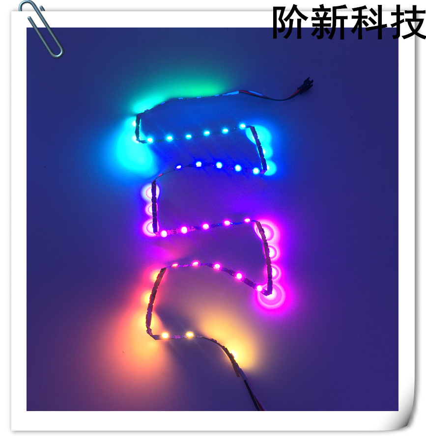Jercio XT1511-RGB-p8(similar to WS2812) 30leds/pixels/m Flexible White PCB LED strip
