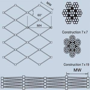 Custom-manufactured X-tend Inox Cable Mesh
