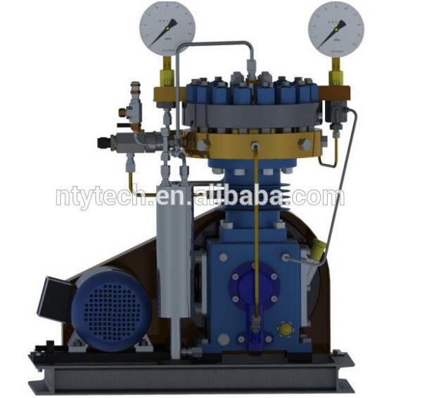 Input Pressure 3Mpa Delivery Pressure 40Mpa Potassium bifluoride Diaphragm Compressor