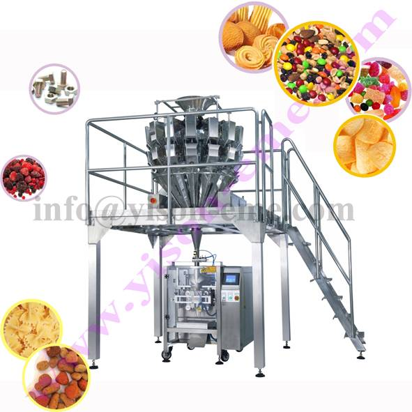 Grain packing line: Potato Chips Packing Machine with Weighing Scale