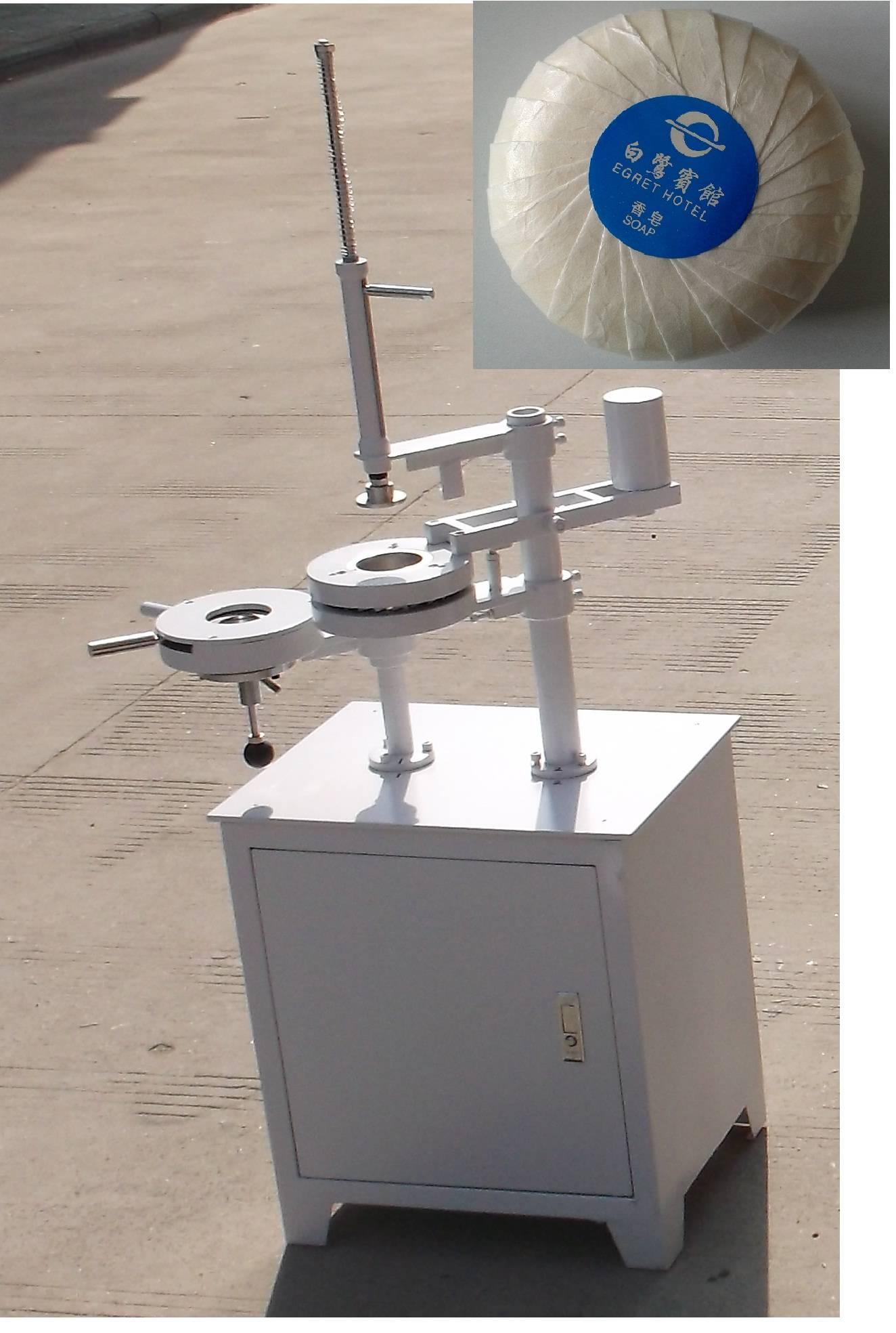Manual Round Soap Pleat wrapper Machine