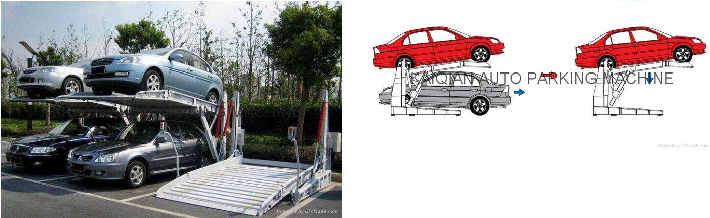 HYDRAULIC TILTING SIMPLE CAR PARKING SYSTEM