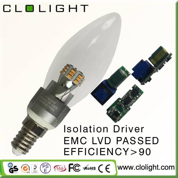 chandelier led lamp 3W LED candle light good quality energy saving