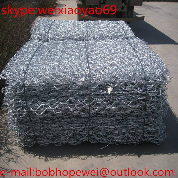 (low carbon steel wire) gabion mesh, stone cage