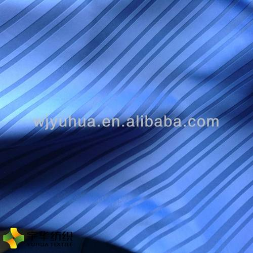Polyester Blue Stripe Blackout Curtain Fabric Home Textile