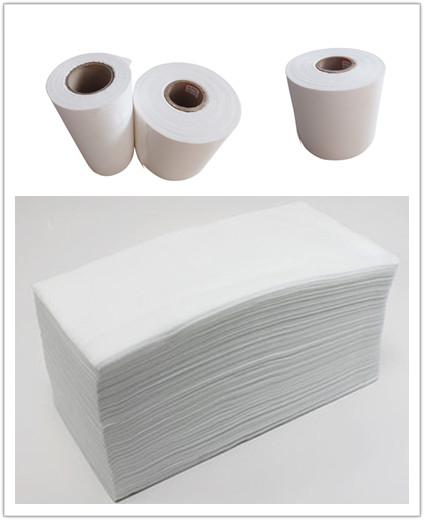 White woodpulp laminated spunlace nonwoven fabric