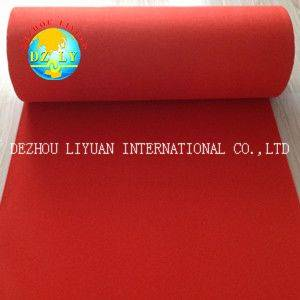 100% polyester nonwoven high quality exhibition carpet