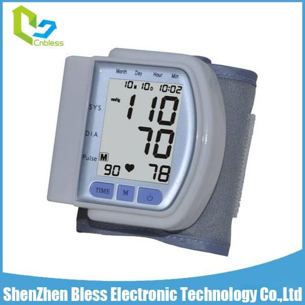 BLS1101 CE Approved Digital Wrist Blood Pressure Monitor