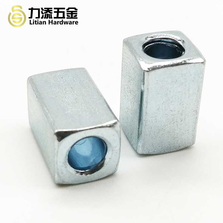 China factory stainless steel fastener long square sleeve nut bolt tube nut sleeve