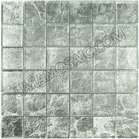 FP02 silver leaf glass mosaic bathroom tile