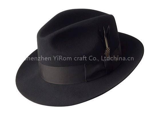 YRMF11003 wool felt hat, men felt hat,format hat