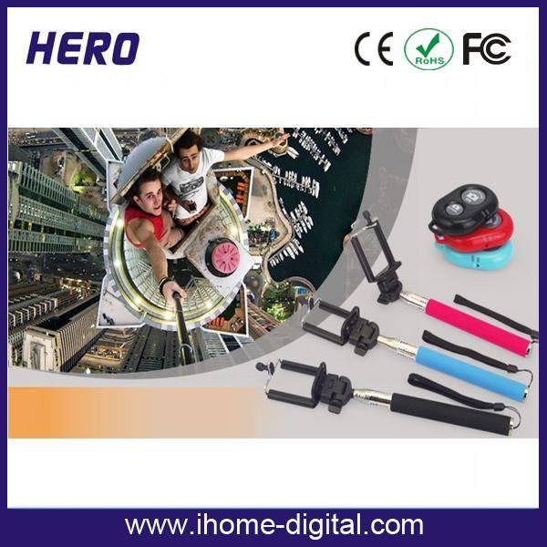 Topsale Extendable Stainless Steel Z07-5 Bluetooth Monopod, Wireless monopod, bluetooth Selfie Stick