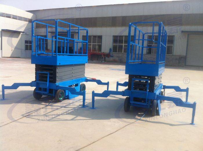 4-18M outdoor indoor used mobile hydraulic scissor lift table