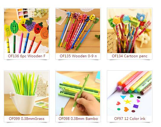 6pc Lovely color music note pencil set