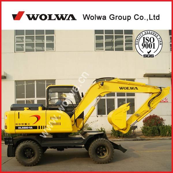 low price 7600kg wheel excavator