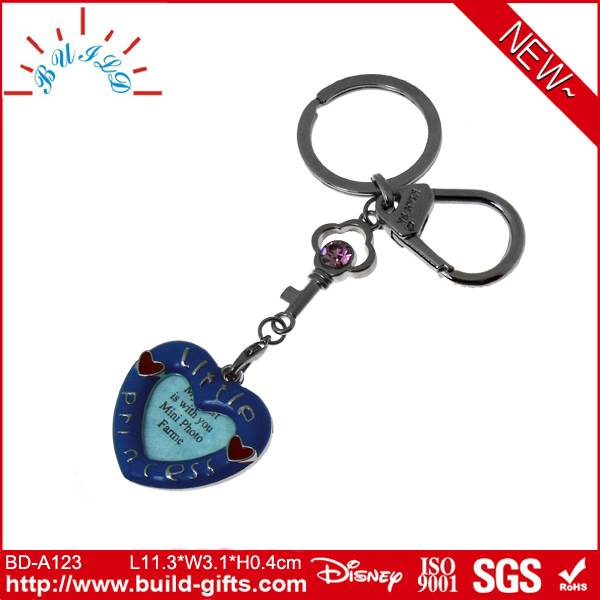 names key chains heart shaped key chain