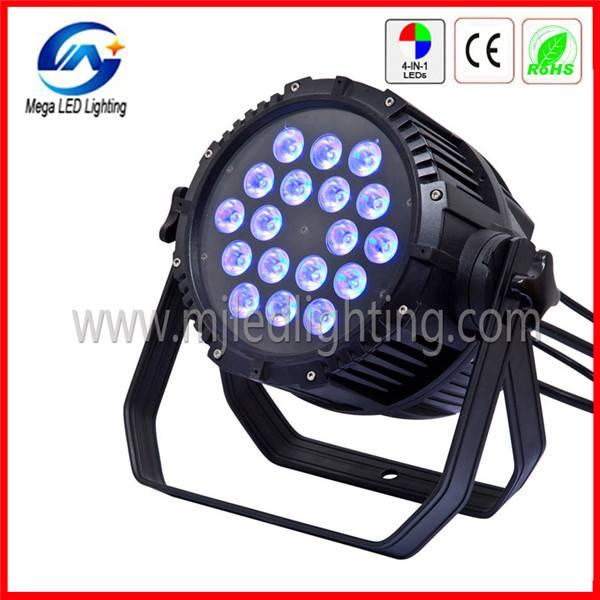 DMX 18 10-w 4in1 RGBW ip65 waterproof led par light