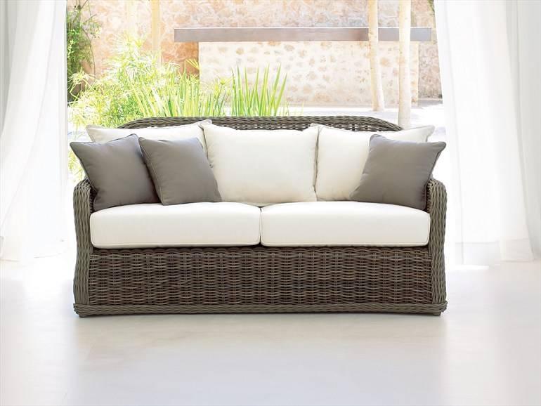 high quality outdoor 3 seater wicker garden sofa