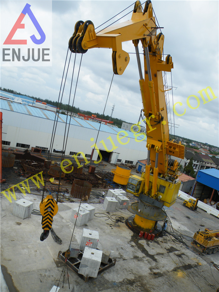 100t Hydraulic Knuckle Boom Crane for Oil Rig