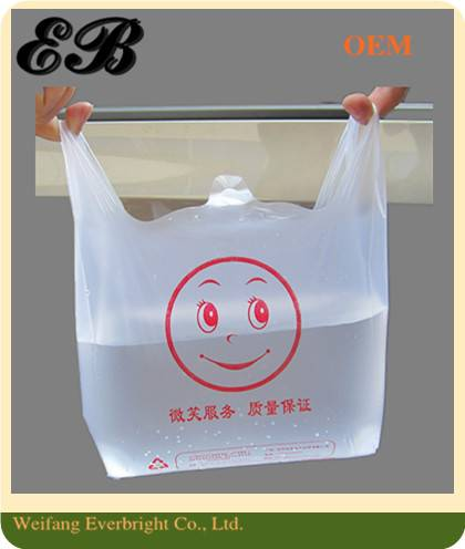 Clear Smile Plastic Shopping Bag Packing Bag