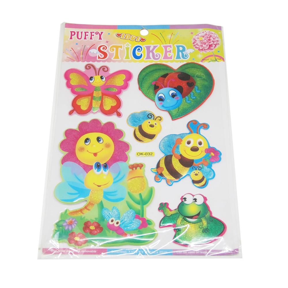 Glitter Puffy Sticker,3D Puffy Stickers