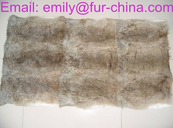Natural Brown Rabbit Fur Plate