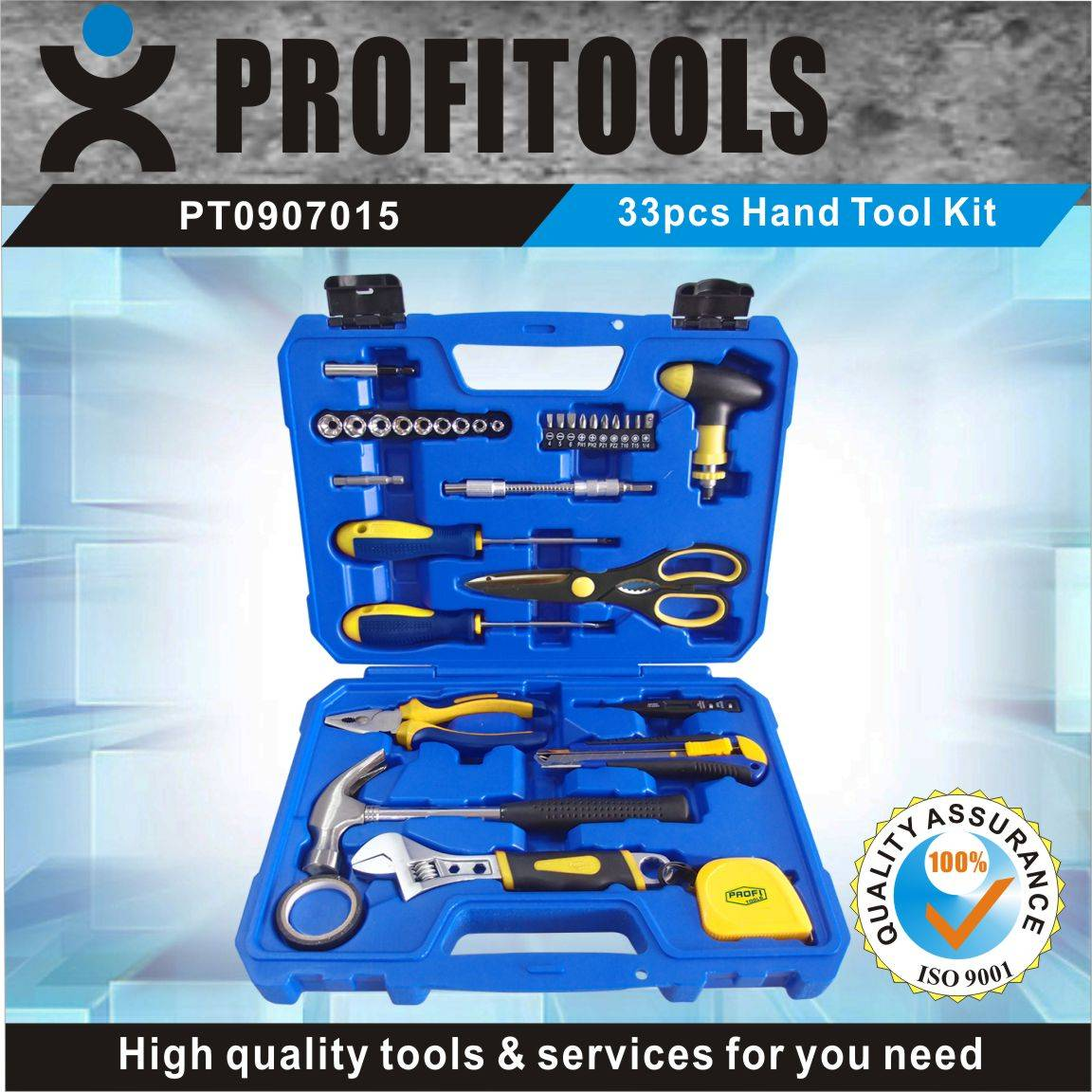 33pcs High Quality Hand Tool Set for Home using
