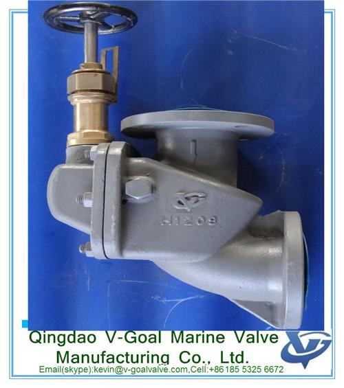 Cast steel storm valve angle type JIS F3060R 5K