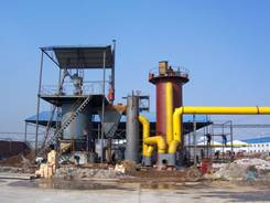 Single-Section High Air Pressure Gasifier