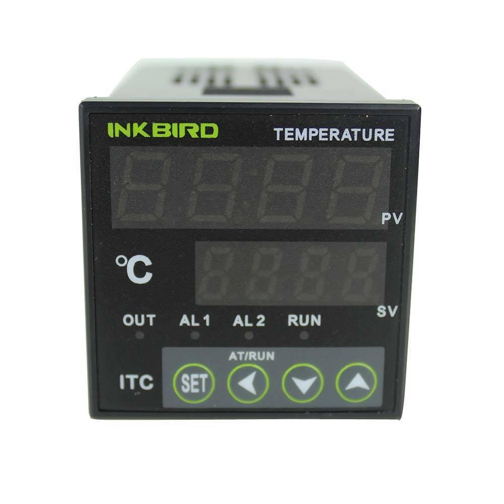 Inkbird Dual Digital PID AC/DC 12-24V Temperature Controller w/ Omron Relay DIN 1/16 ITC-100RL