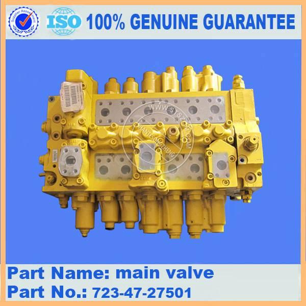 komatsu excavator parts for PC400-7 main valve 723-47-27501