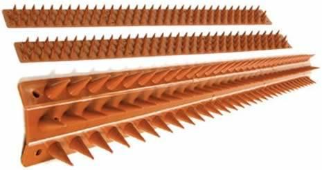 Plastic wall spikes in UV stabilized weatherproof polypropylene