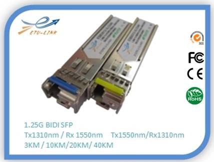 >Fibre Optic Wdm 1.25g 1550/1310nm 60km Bidi Sfp Transceiver Module