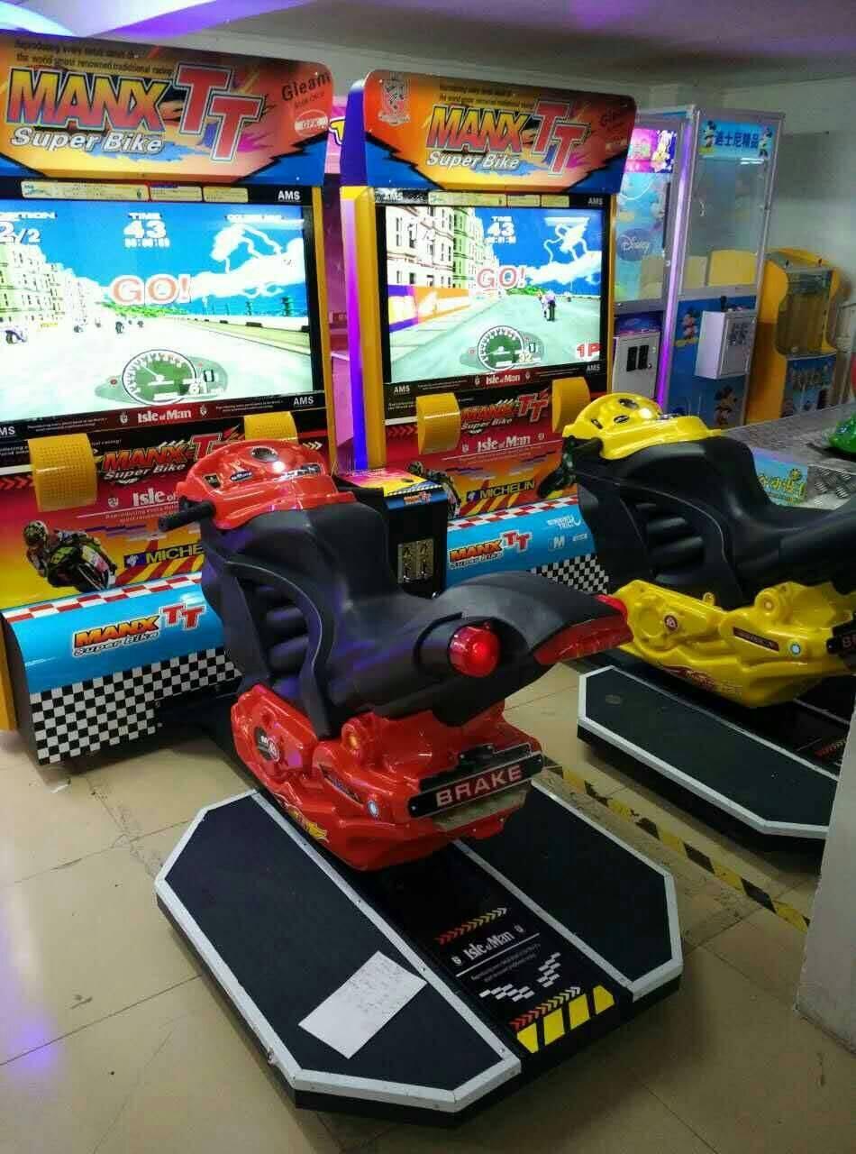 The latest Video game machine42LCD TT Moto racing game machine