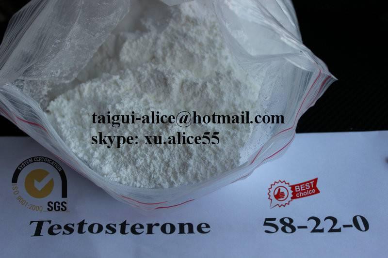 Testosterone Base CAS:58-22-0 Raw Steroid Powder Test Muscle Building Manufacturer Supplier