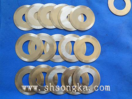 Kraft paper machinery round blade stainless steel food blade, stainless steel round blade