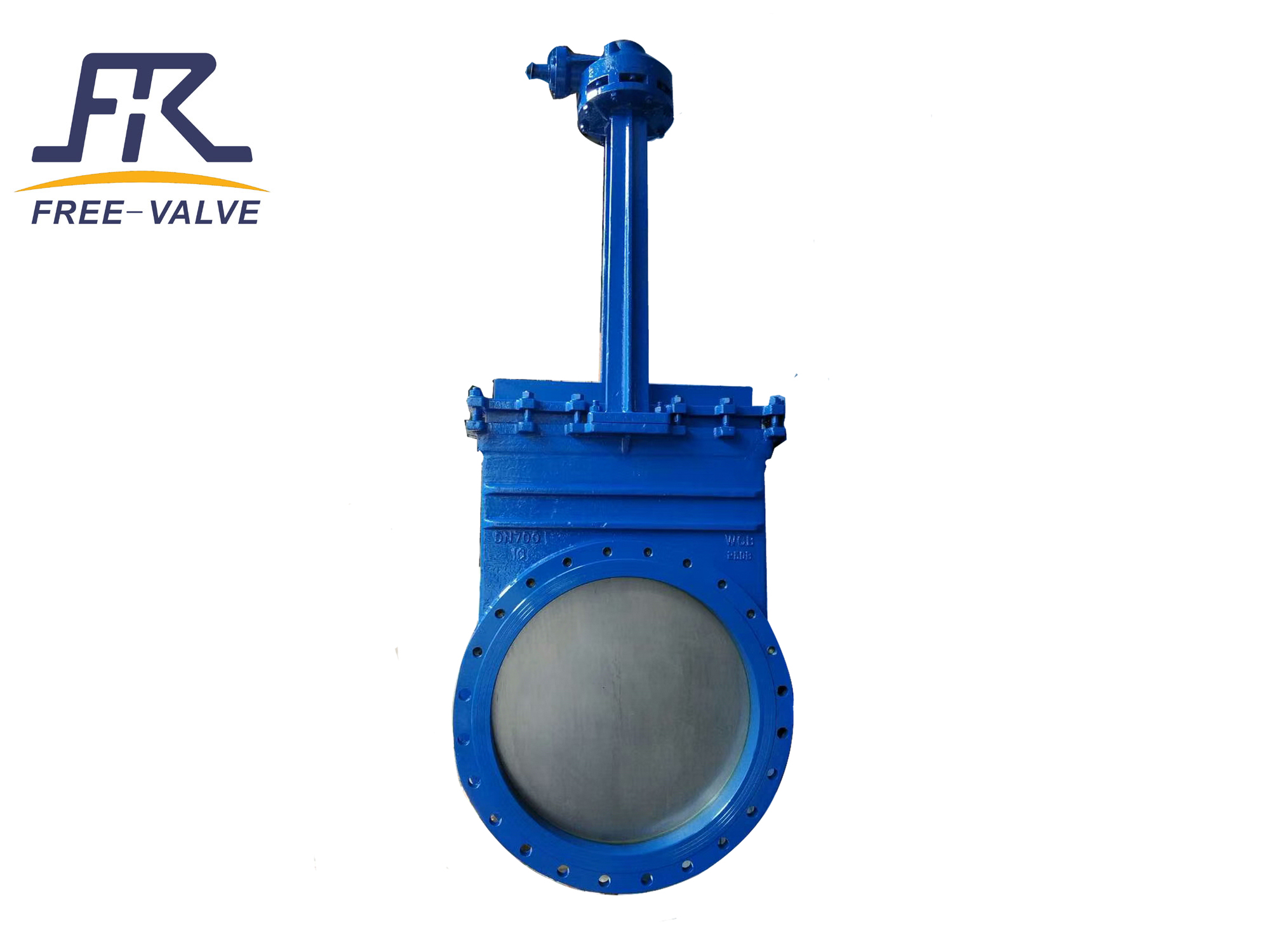 Gear box unidirectional knife gate valve