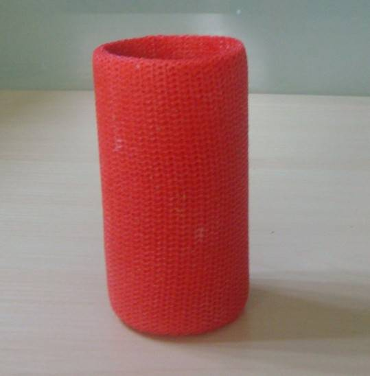 Bandage with fiberglass material, lightweight and air permeability