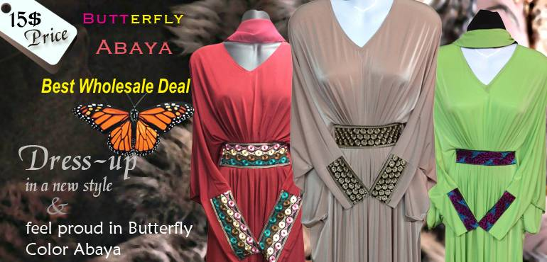 Butterfly Abaya New Wholesale Pack Deals 14$-18$