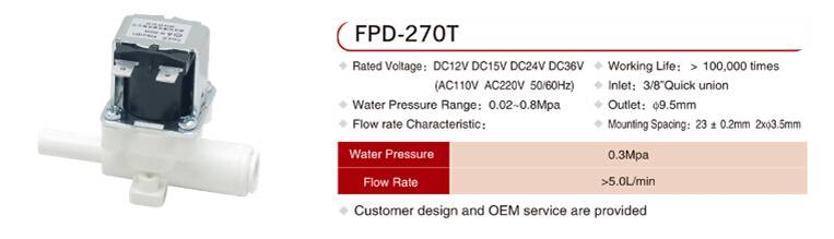 FPD-270T outlet water solenoid valve