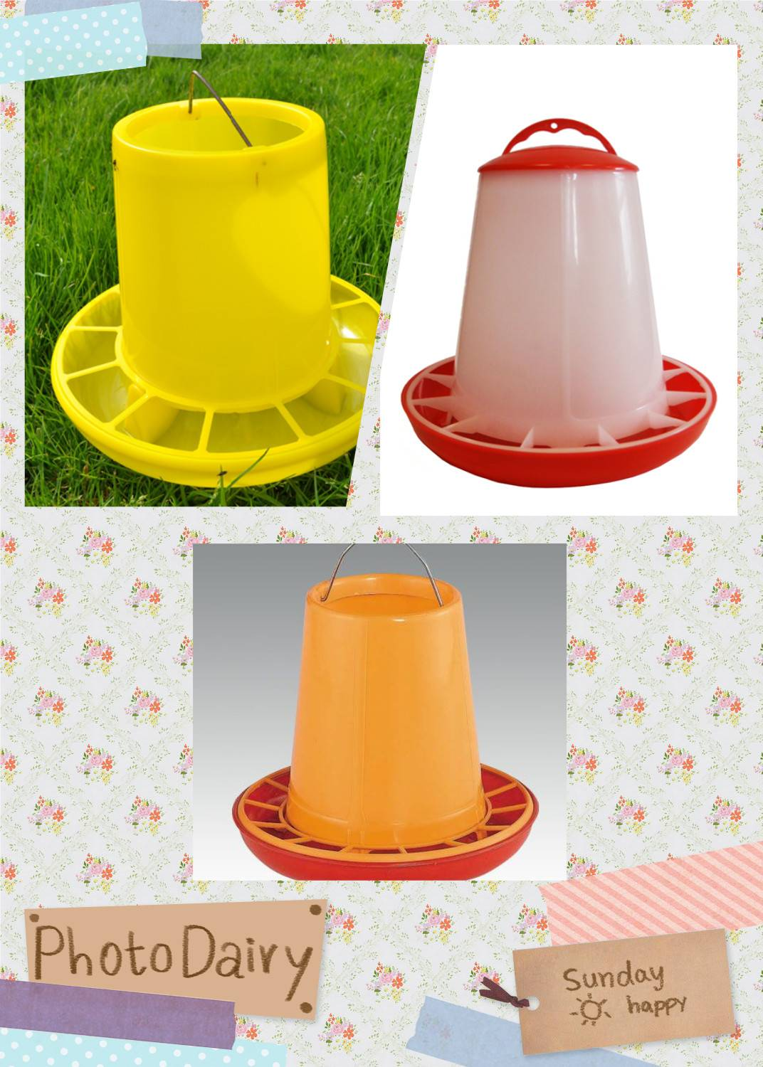 3kg best selling and high quality plastic poultry feeder for chicken