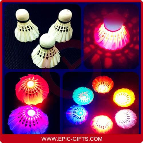 sell LED shuttlecock LED badminton lighting badmintons