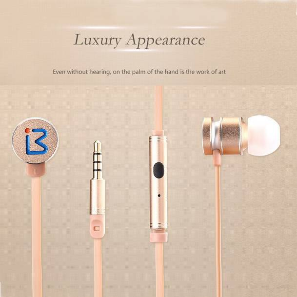 3.5mm jack high quality wired earphone with cable for MP3/mobile phone