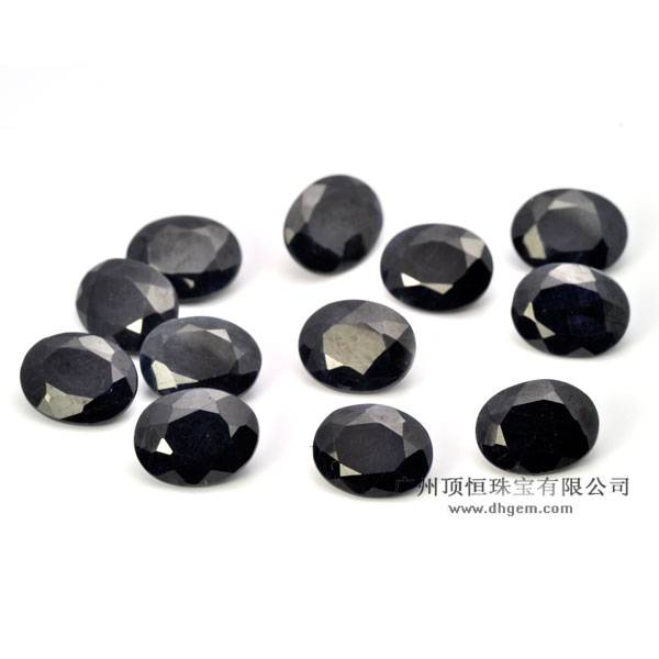 China Wholesale Good Quality Natural Black Sapphire Gemstone
