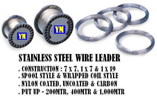 Stainless steel wire leader
