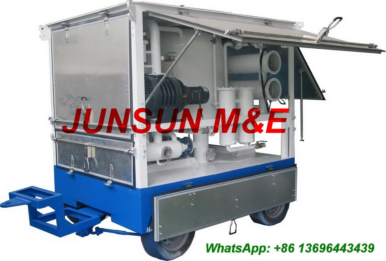 First-Class Quality Trailer Mounted Mobile Type Dielectric Transformer Oil Treatment Plant