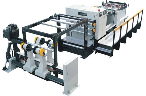 high speed paper cutter/roll paper sheeter/paper sheeting machine