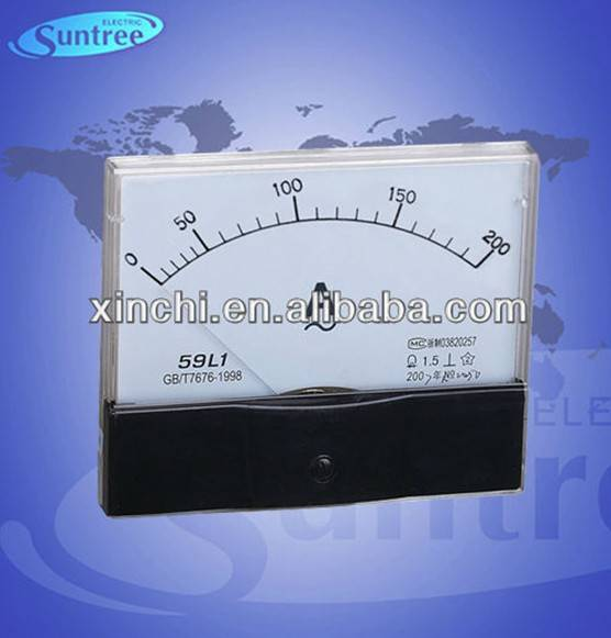 13070mm analog panel ac/dc amp meter ammeter class 1.5 or 2.5 59L1
