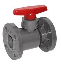 pvc double union ball valve with flange fitting
